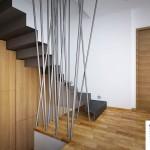 Pohled na moderní schodiště
