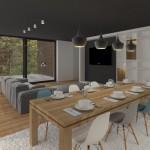 Rovný strop - obývací pokoj